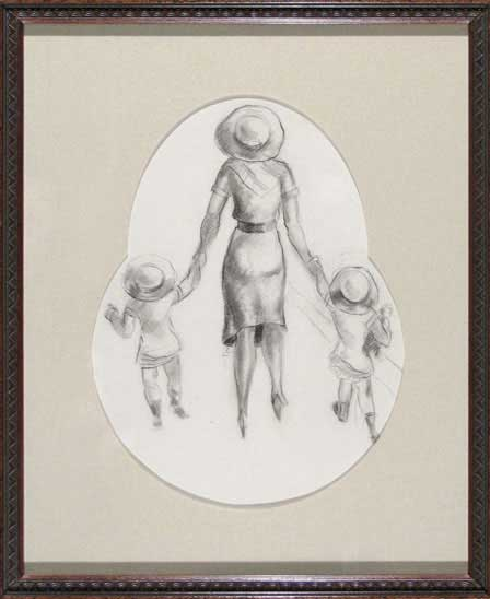 mat-mother-and-two-children-frame